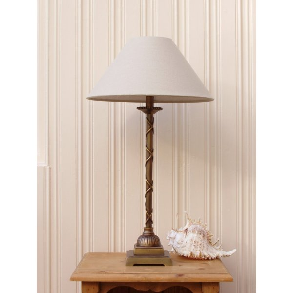 Brass Lamp Approx.46 cm with lampshade Approx. Height 30cm