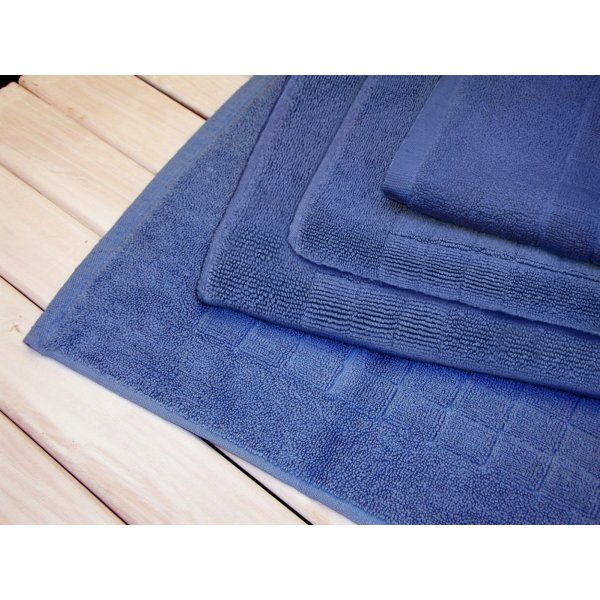 Egyptian cotton Azure Blue Bath Mat 90 x 50 cm