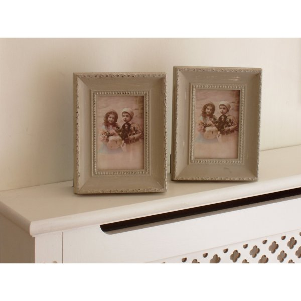 Green Distressed Look Photo Frames Set of 2