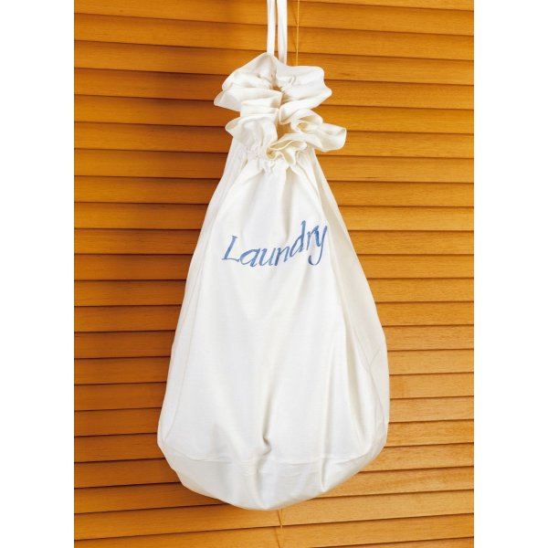 Laundry Bag Blue Script. Large