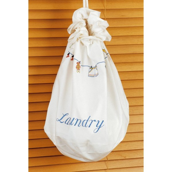 Laundry/Toy Bag for children with embroidered fun motifs. Large
