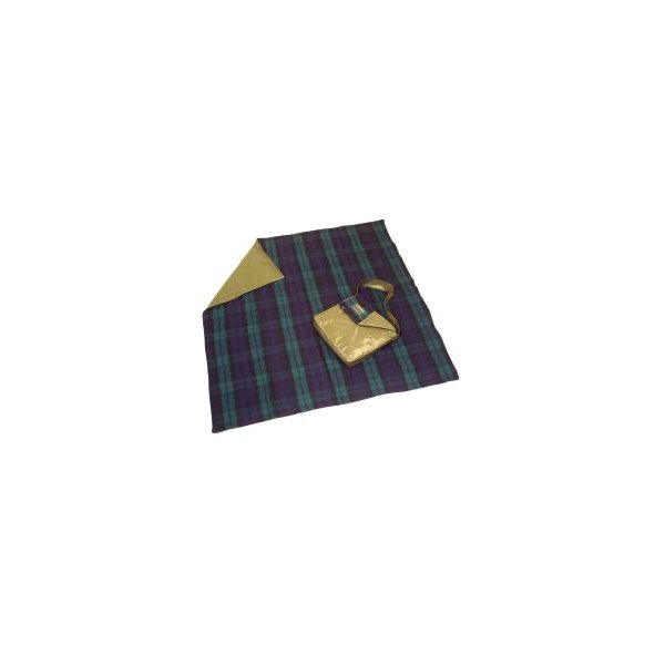 Pure Wool Rug with Bag. Black Watch 137 x 137 cm