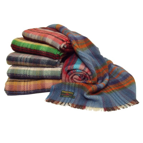 Two All Wool Picnic/Travel Rugs 150 x 120 cm