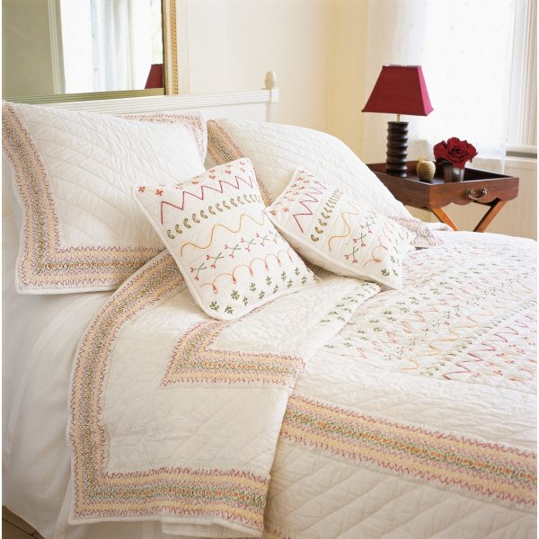 Valencia Quilted Square Cushion Cover
